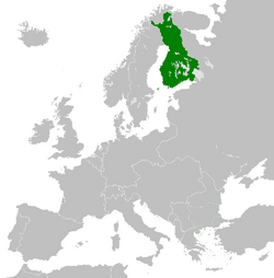 Location of the Grand Duchy of Finland