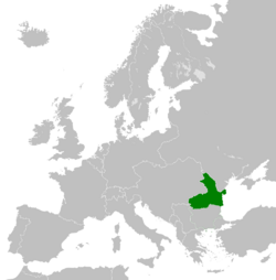Map of Romania 1913