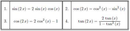 Formulas de doble angulo