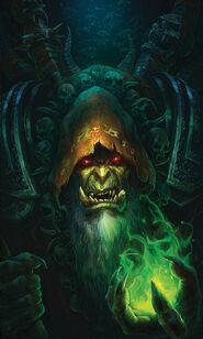 Wowchronicle 2 Cover Gul'dan by Peter Lee