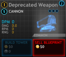 Deprecated weapon
