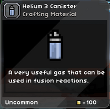 Helium 3 Canister