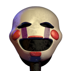 The Puppet hallucination, with its head tilted back.
