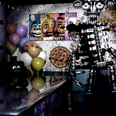 The Bare Endoskeleton in the Prize Corner, brightened and saturated for clarity.