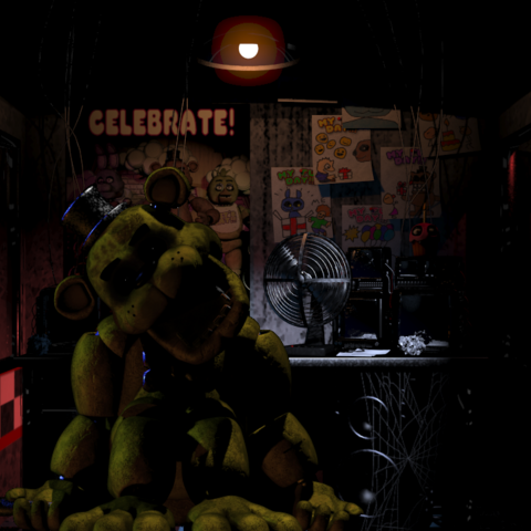 Golden Freddy in the Office.