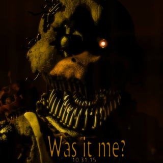 The third teaser, an image depicting Nightmare Chica and the phrase