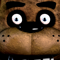 Freddy. Note the human eyes, and the blood vessels in them.