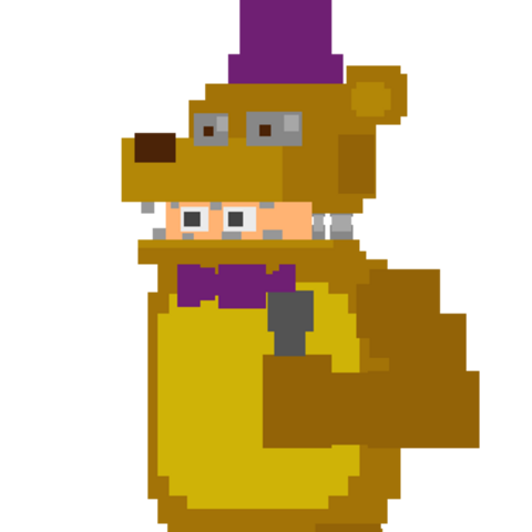 Fredbear's suit, being operated by a person.