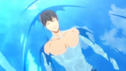 Haruka in the water