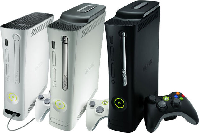 File:Xbox-360 Core & Elite(from left to right).jpg