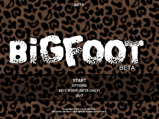 File:BiGFoot Title Menu.jpg