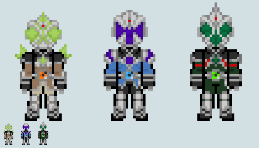 File:Chibi rider sprite mage trio custom versions by malunis-d6jufb0.png