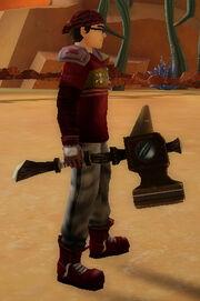 Brawler's Anvil Hammer of Rumbling held