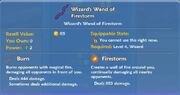 Wizard's Wand of Firestorm item