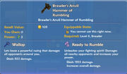 Brawler's Anvil Hammer of Rumbling item