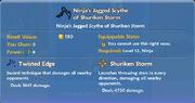 Ninja's Jagged Scythe of Shuriken Storm item