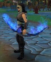 Frostflame Bow held