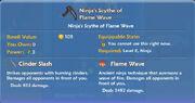 Ninja's Scythe of Flame Wave item