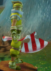 Candy Striped Axe held