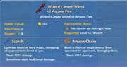 Wizard's Jewel Wand of Arcane Fire item