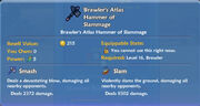 Brawler's Atlas Hammer of Slammage item