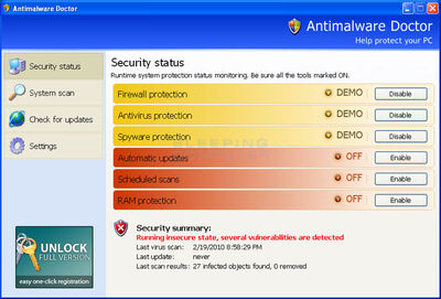 Antimalware-doctor