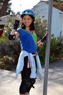 Jessica rollerskating