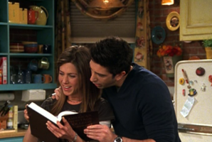 Ross and Rachel Look at Dictionary