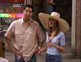 Ross and Rachel Outside Central Perk