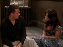 Chandler & Monica in the Hallway (9x08)
