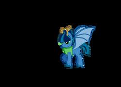 Bubblegum blast the horned dragon pony