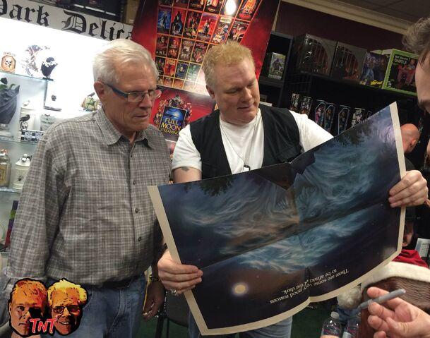 File:Tom Holland and Tim Sullivan at Dark Delicacies, December 2014.jpg