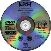 Fright Night DVD Spain 2 Disc