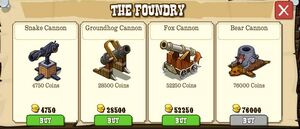 Foundry cannon