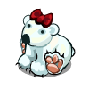 Festive Polar Bear-icon