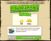 Invite Friends to the Jackalope Society Completed