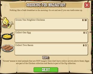 Checking for Breakfast