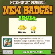 Noteworthy Neighbor Badge Complete