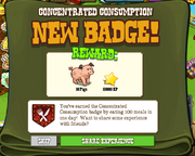 Concentrated Consumption Badge Complete
