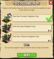 Tend Neighbor Crops