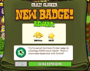 Crazy Clicked Badge Earned