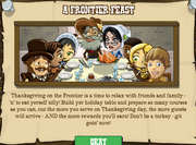 Thanksgiving Event Popup