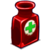 Red Glass Vial-icon