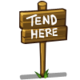 Tend Here Sign-icon