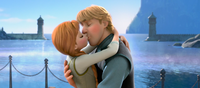 Anna and Kristoff kiss