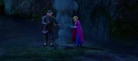 Kristoff helps keep Anna warm