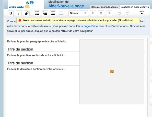 Fichier:Boite de création de page.png