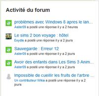 Activité forum
