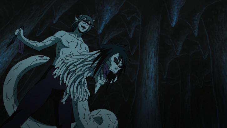Kabuto using Orochimaru's powers