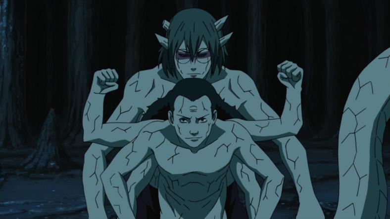 Kabuto using Kidōmaru's powers
